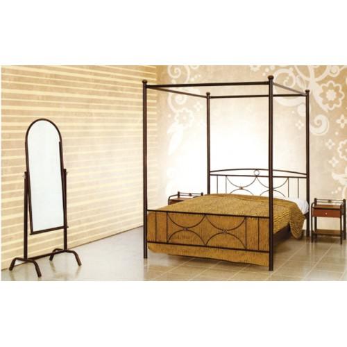 Κρεβάτι MC 35 Μεταλλικό Διπλό με Ουρανό (140/160x190/200) cm