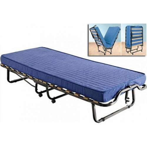 ΚΡΕΒΑΤΙ-ΒΑΛΙΤΣΑ, μπλέ χρώμα, 90x200cm, Luxor Πτυσσόμενα Κρεβάτια Έπιπλα - epiplapastos.gr