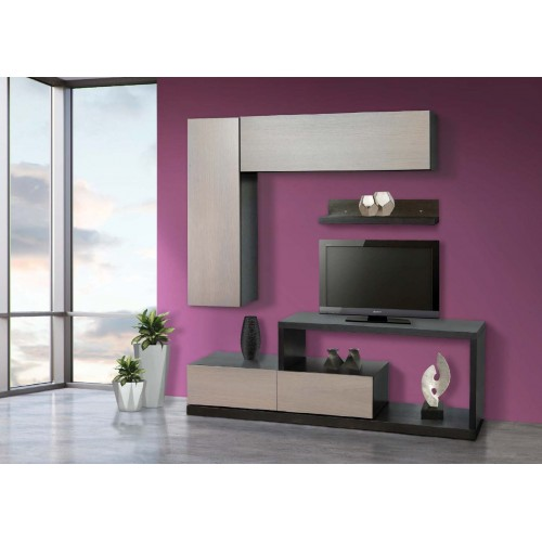 Σύνθεση Έπιπλο TV βάση 124 Οξιά-Δρυς (180x55x44) cm
