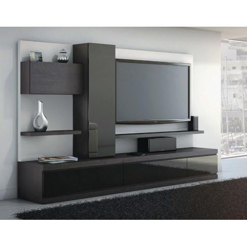 Σύνθεση Έπιπλο TV βάση 127 Οξιά-Δρυς (250x40x44) cm