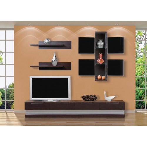 Σύνθεση Έπιπλο TV βάση 129 Οξιά-Δρυς (240x38x44) cm