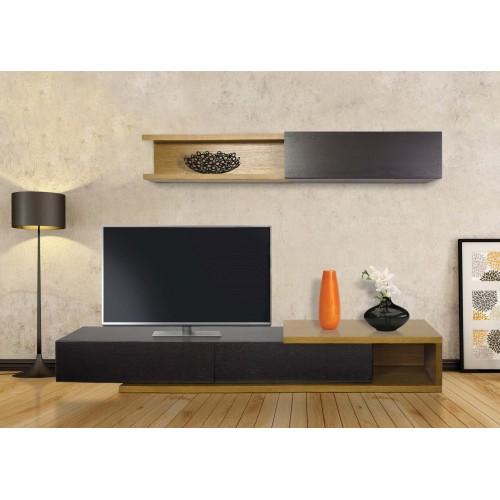 Σύνθεση Έπιπλο TV βάση 139 Οξιά-Δρυς (200x33x44) cm