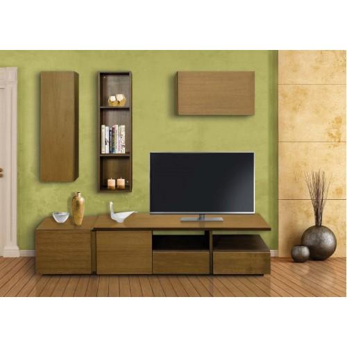 Σύνθεση Έπιπλο TV βάση 138 Οξιά-Δρυς (200x43x43) cm