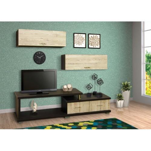 Σύνθεση Έπιπλο TV βάση 150 Οξιά-Δρυς (180x40x45) cm