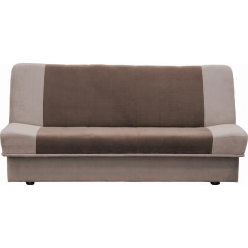 Cos Τριθέσιος Καναπές Μπεζ-Καφέ Κρεβάτι με Αποθηκευτικό Χώρο (195x104x90) cm