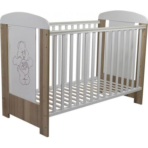 ΒΡΕΦΙΚΟ ΚΡΕΒΑΤΙ ΚΟΥΝΙΑ SLEEPY (13016) WHITE & BROWN 407 (133x68x100) cm