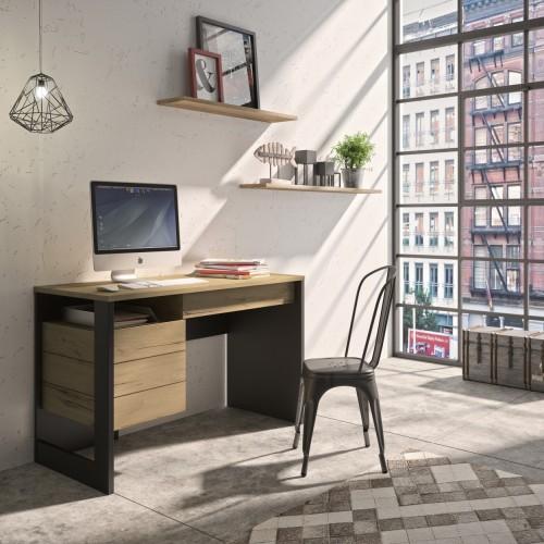 Γραφείο Russel (110x39x86) cm Helvezia Oak / Black