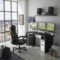 Γραφείο Gaming Invaders (170x67x88) εκ. Ανθρακί - Λευκό
