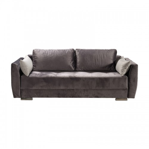 Albak Τριθέσιος Καναπές Γκρι - Κρεβάτι (231x97x75) cm