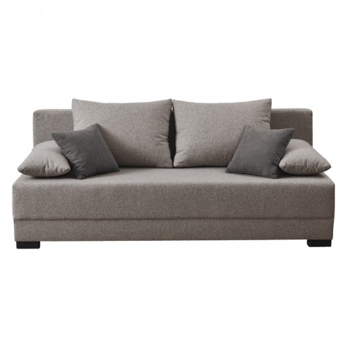 Dante Τριθέσιος Καναπές Κρεβάτι Μπεζ-Καφέ Χρώμα (198x88x77) cm
