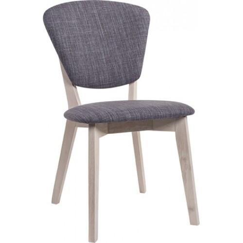 Καρέκλα Millva White Wash Σκούρο Γκρι