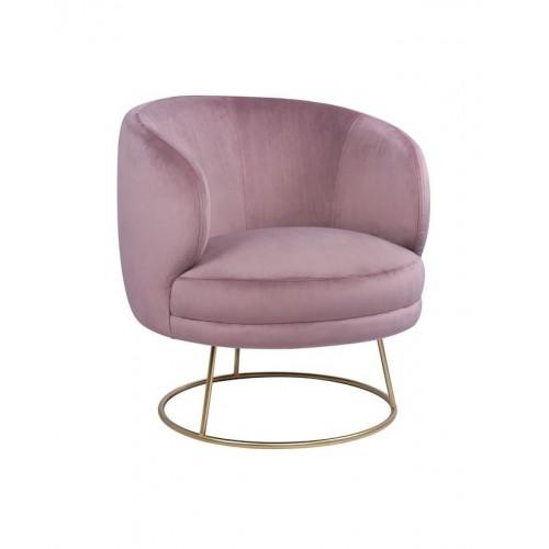 Πολυθρόνα Rien Ροζ-Βελούδο (80x75x82) cm