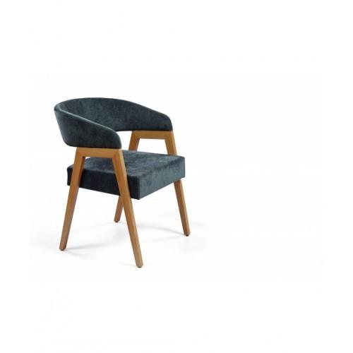 Καρέκλα Eleven Ξύλινη με Ταπετσαρία