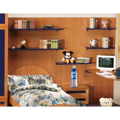 Πλάτη με ράφια και γραφείο (ΠΑΡΟΣ 1)