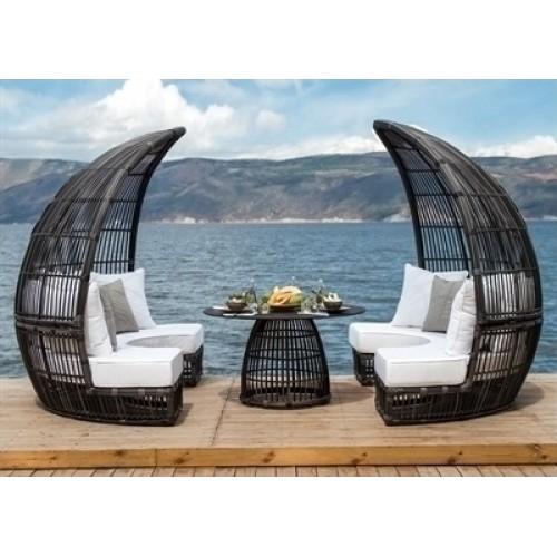 Bamboo Dining Booth τραπεζαρία - σαλόνι εξωτερικού χώρου (220x237x190) cm