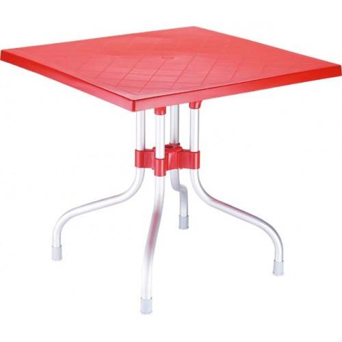 ΤΡΑΠΕΖΙ FORZA RED (80x80x72) cm
