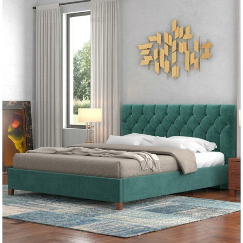 No 63 Κρεβάτι Διπλό Ύφασμα (160x200) cm