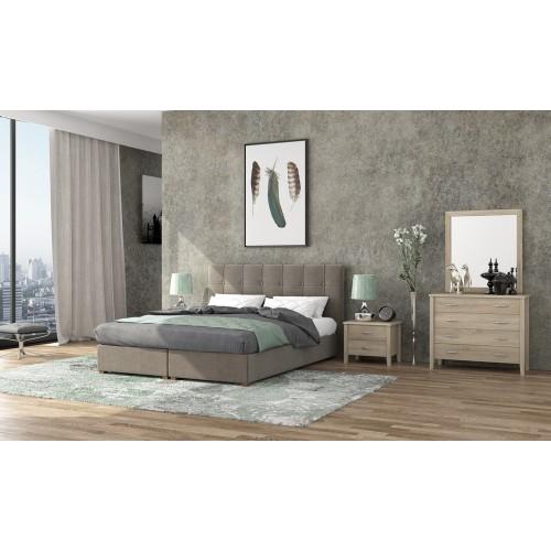 Νο 66 Κρεβάτι Διπλό Ύφασμα με Αποθηκευτικό Χώρο (160x200) cm