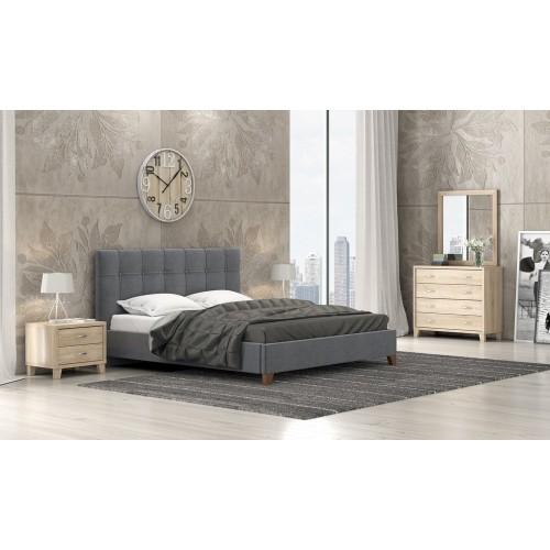 Νο 62 Κρεβάτι Διπλό Ύφασμα (160x200) cm