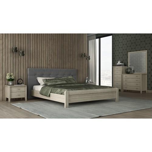 Νο 55 Όλιβ Κρεβάτι Διπλό Ξύλινο (160x200) cm